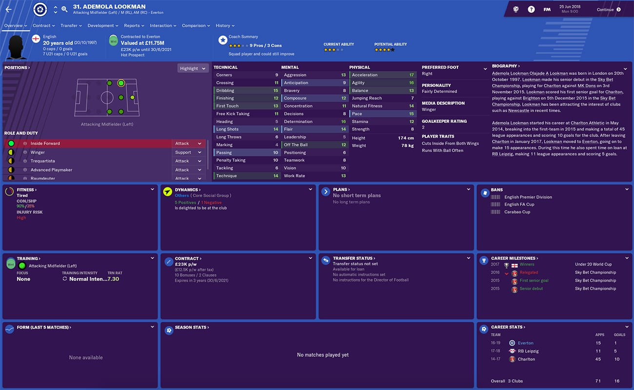 Football Manager 2019 Everton: Team guide, best players
