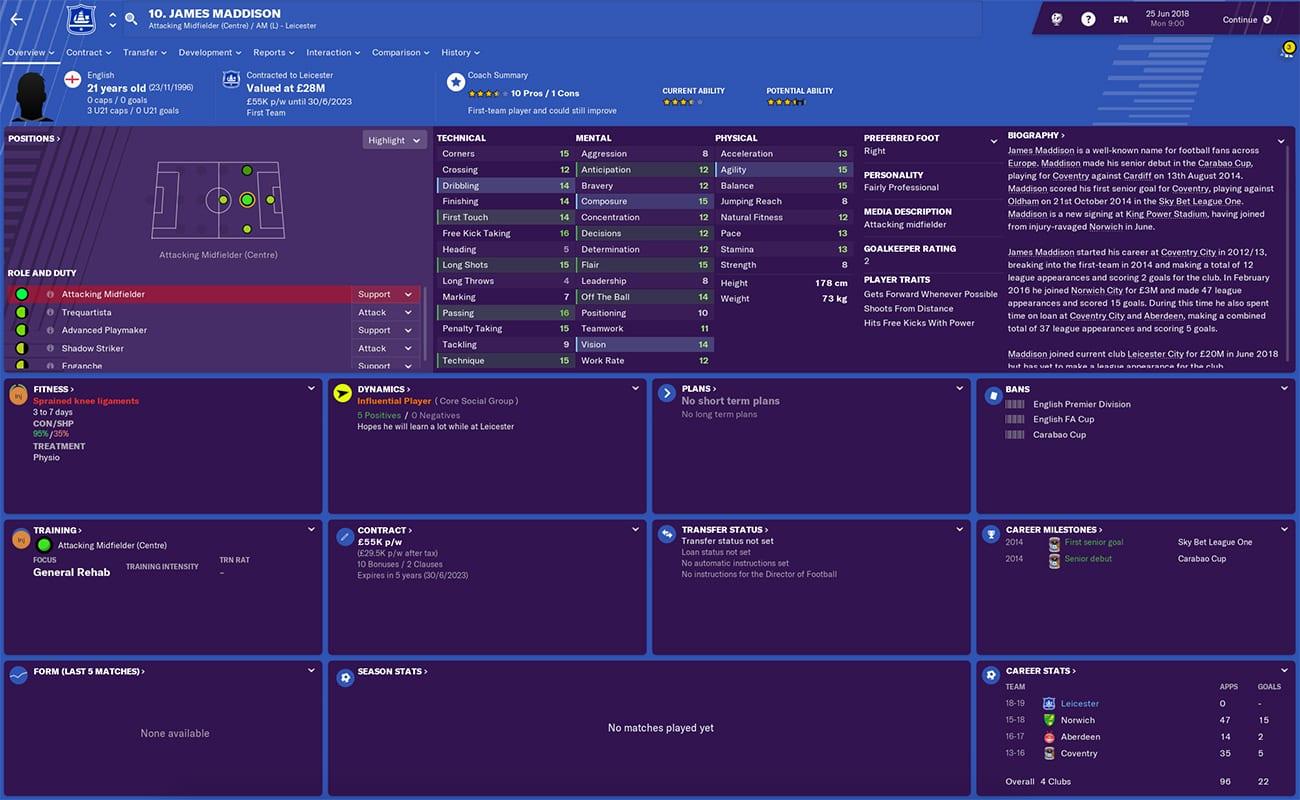 football manager 2019 leicester fm19 leicester fm jamie vardy