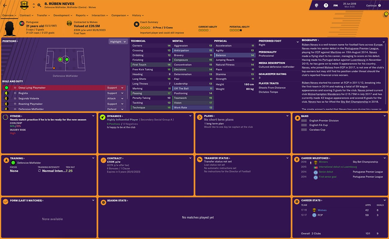 football manager 2019 wolves fm19 wolves football manager ruben neves